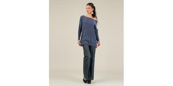 Dámský tmavomodrý svetr s překříženými zády Lili Lovely