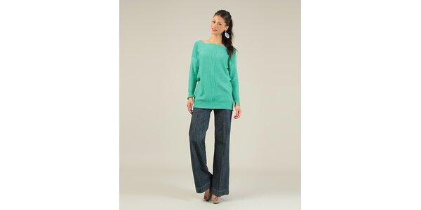 Dámský zelený svetr s překříženými zády Lili Lovely