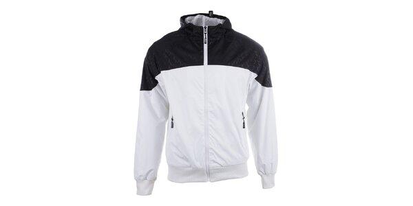 Pánská černo-bílá sportovní bunda s kapucí Joluvi