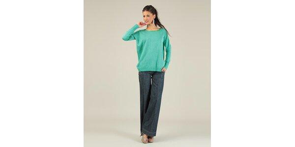 Dámský zelený svetřík se zipem na zádech Lili Lovely