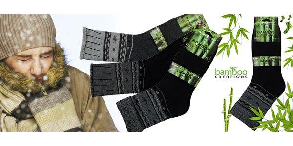 Pánské zateplené bambusové ponožky