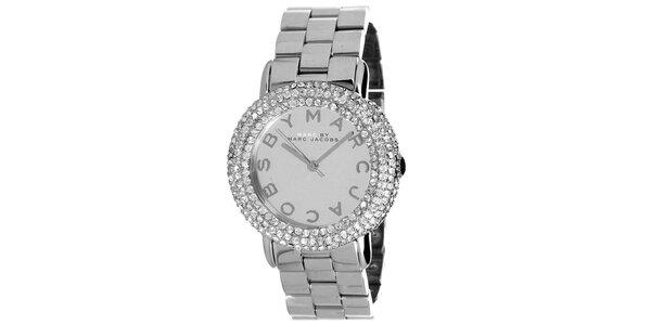 Dámské ocelové hodinky se zirkony Marc Jacobs