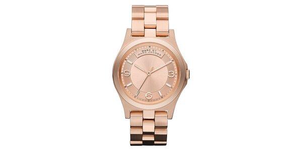 Dámské zlacené ocelové hodinky Marc Jacobs