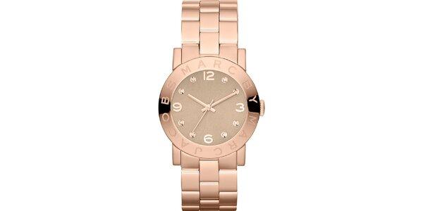 Dámské hodinky v barvě růžového zlata Marc Jacobs
