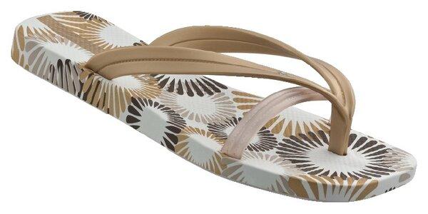 Bílozlaté dámské žabky Ipanema se třemi pásky