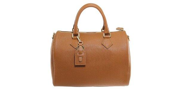 Dámská hnědá kožená kabelka Florence Bags