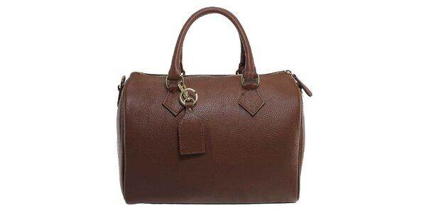 Dámská temně hnědá kožená kabelka Florence Bags