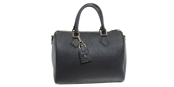 Dámská černá kožená kabelka Florence Bags
