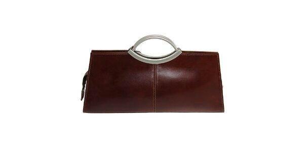 Dámská hnědá obdélníková kabelka Florence Bags