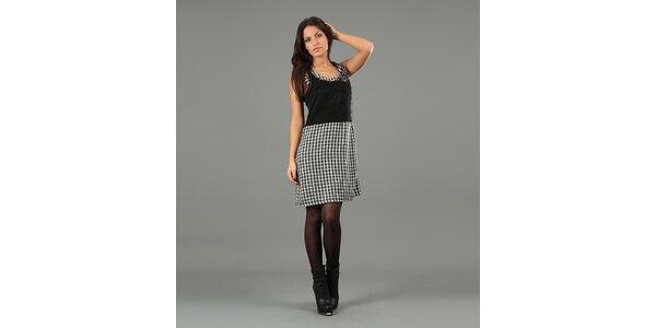 Dámské černobílé úpletové šaty Anabelle
