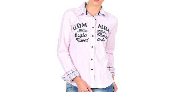 Dámská růžová košile s nápisy Giorgio di Mare