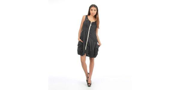 Dámské černé šaty na zip Anabelle