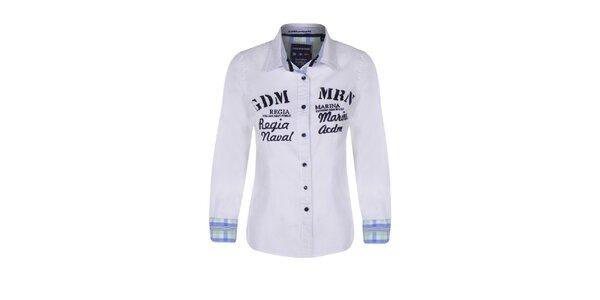 Dámská bílá košile s nápisy Giorgio di Mare