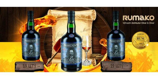 Tradiční dominikánské rumy El Presidente Marti