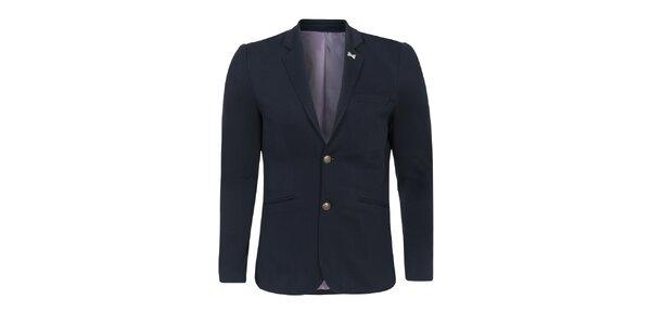 Pánské tmavě modré sako se záplatami Giorgio Di Mare