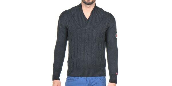 Pánský černý pletený svetr Giorgio di Mare