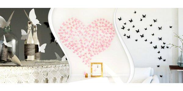 Sady nalepovacích 3D motýlků (100 nebo 200 ks)