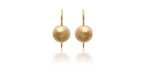 Dámské zlaté perličkové visací náušnice La Mimossa