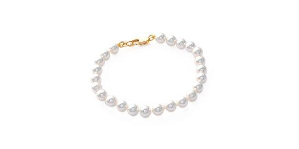 Dámský pozlacený náramek s perlami Mimossa