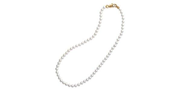 Dámský pozlacený náhrdelník s perlami La Mimossa