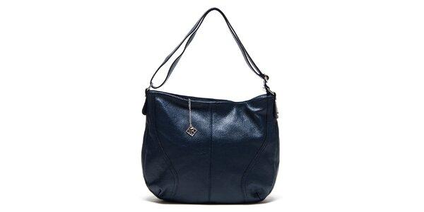 Dámská tmavomodrá kožená kabelka s jedním poutkem Isabella Rhea