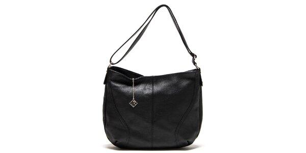 Dámská černá kožená kabelka s jedním poutkem Isabella Rhea