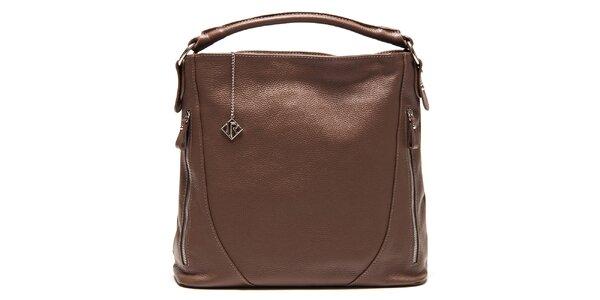 Dámská kožená kabelka se zipy Isabella Rhea