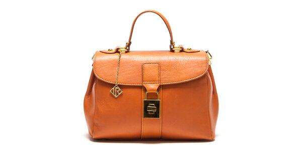 Dámská kožená kabelka se zlatým zámečkem Isabella Rhea