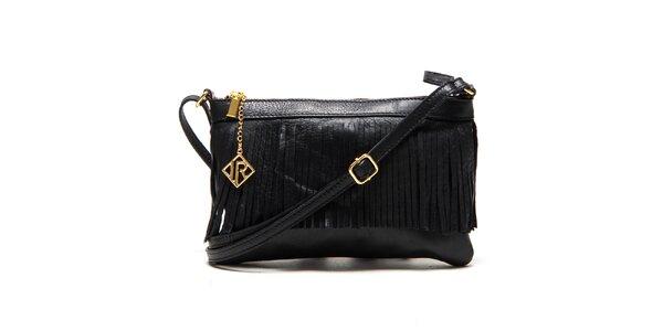 Dámská černá kabelka s třásněmi Isabella Rhea