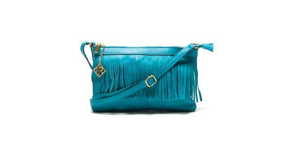 Dámská tyrkysová kabelka s třásněmi Isabella Rhea
