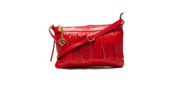 Dámská červená kabelka s třásněmi Isabella Rhea
