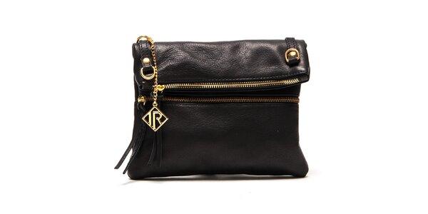 Dámská černá kabelka se zlatými zipy Isabella Rhea