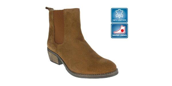 Dámské hnědé kotníkové boty Beppi