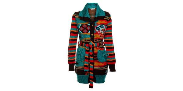 Dámský barevný pletený kabát Savage Culture
