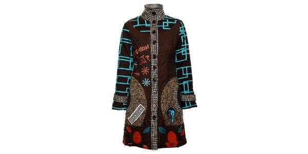 Dámský originální hnědý kabát Savage Culture