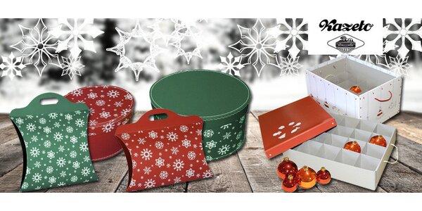 Vánoční úložné krabice a tašky od značky Kazeto