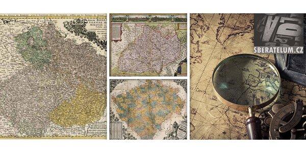 Unikátní atlas českých zemí z let 1518-1957