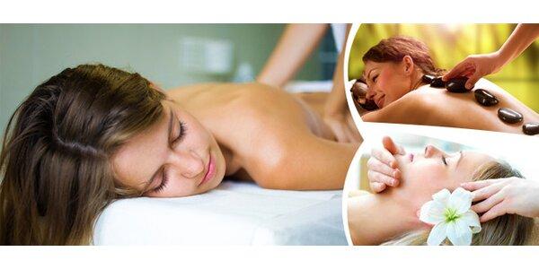 Rekondiční masáž zad a šíje + prohřátí lávovými kameny + masáž nohou