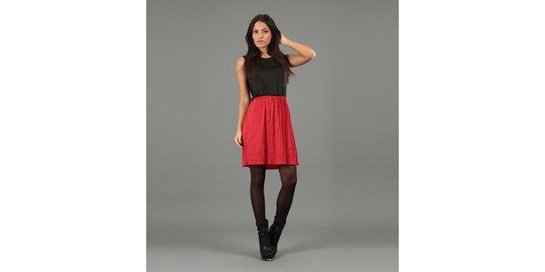 Dámské černočervené krátké šaty Anabelle