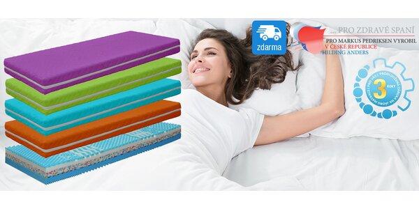 Kvalitní tuhé matrace Visco Juicy Hard - barevné