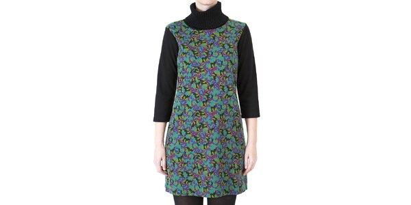 Dámské barevné šaty s tmavými rukávy Ginger and Soul