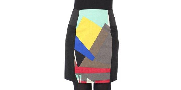 Dámská černá sukně s vícebarevným středem Ginger and Soul