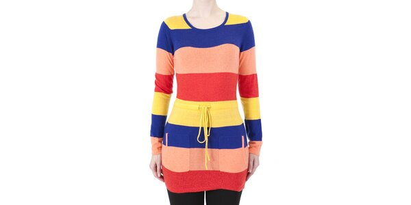 Dámské barevné pruhované šaty Ginger and Soul