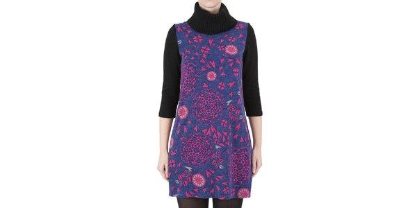 Dámské šaty s růžovým květinovým potiskem Ginger and Soul