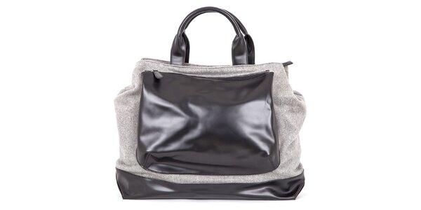 Dámská šedá kabelka s černou kapsou Ginger and Soul