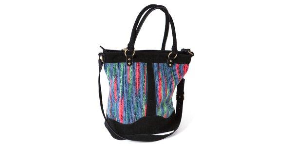 Dámská barevná kabelka s černými prvky Ginger and Soul