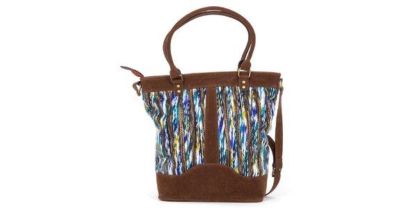 Dámská barevná kabelka s hnědými prvky Ginger and Soul