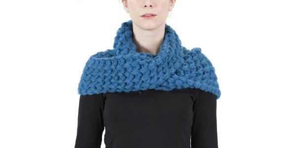 Dámský modrý pletený šál Ginger and Soul