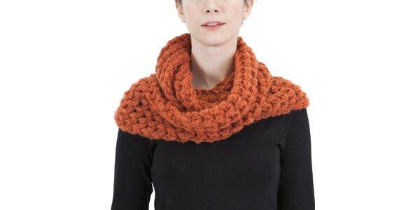 Dámský oranžový pletený šál Ginger and Soul