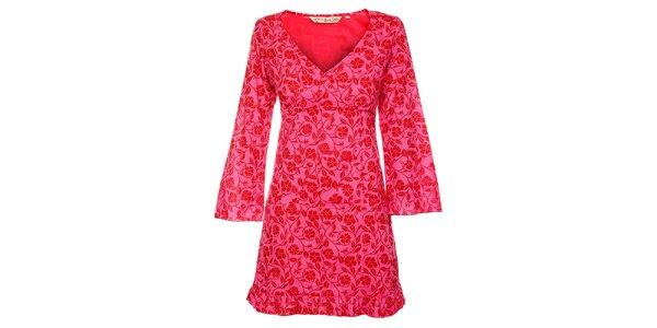 Dámské růžovočervené šaty Savage Culture